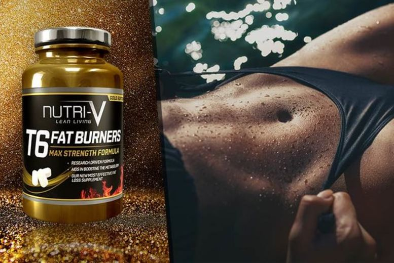 £12 instead of £60 (from Nutri-V) for a two-month* supply of T6 Gold Edition 'Fat Burner' tablets, £19 for a four-month* supply - save up to 80%