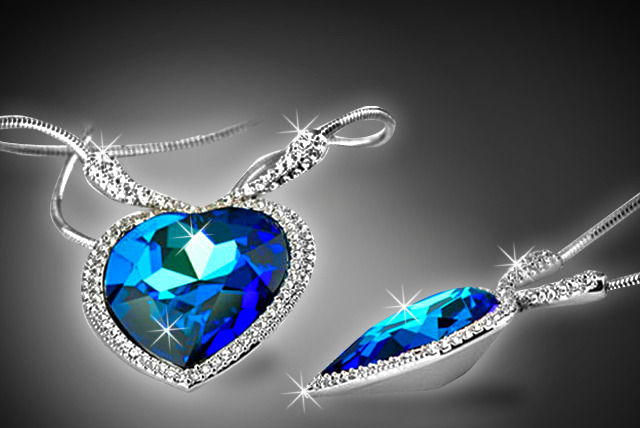 £14.99 for a rhodium-plated Swarovski Element 'Heart of the Ocean' necklace from Cian Jewels
