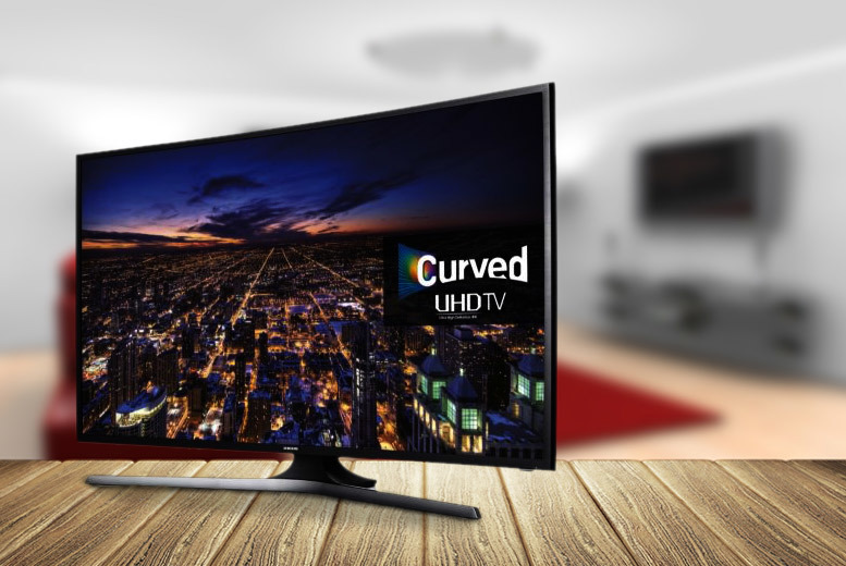 "£899 instead of £968 for a 40"" Samsung LED Ultra-HD Smart TV with curved screen, Freeview HD and Wi-Fi from Wowcher Direct + DELIVERY IS INCLUDED!"