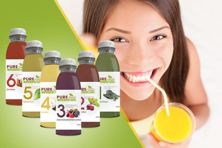 From £59 instead of £99 for a 3-day juice cleanse pack, from £99 for a 5-day pack, £139 for a 7-day pack from Pure Viva Cleanse - save up to 40%