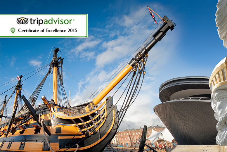 £25 instead of £51.20 for two annual all-attraction tickets to Portsmouth Historic Dockyard - save 51%