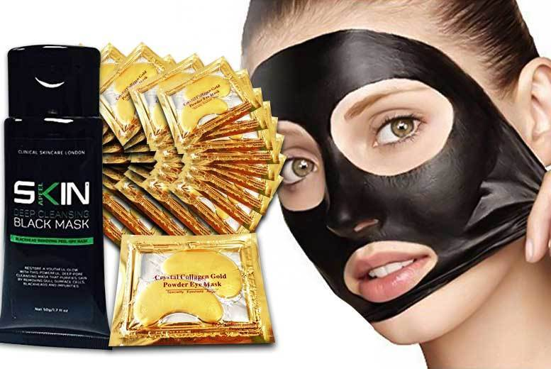 £7.99 instead of £109 (from Forever Cosmetics) for a 50ml tube of blackhead peel-off mask with 40 'crystal' gold collagen eye masks - save 93%