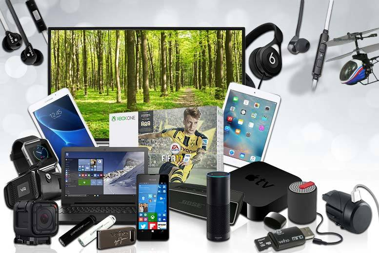 £10 (from Brand Arena) for a mystery electronics deal - Fitbit watch, Samsung Galaxy tablet, Amazon Echo, JVC smart TV and more!
