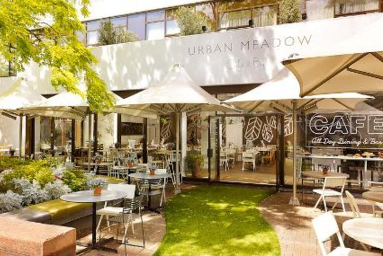 £39 instead of up to £91 for a three-course dinner for two with a bottle of Prosseco at the Urban Meadow Café & Bar, Doubletree By Hilton Hyde Park - save up to 57%