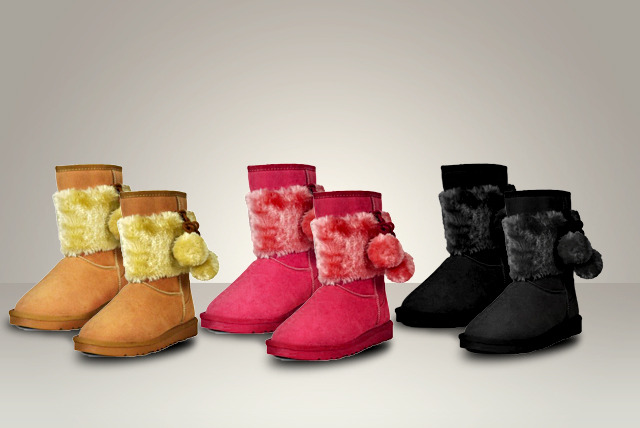£25 instead of £99.99 (from Karma Clothing) for a pair of stylish faux fur lined Pom Pom Snugg boots - choose from 3 fab designs and save 75%