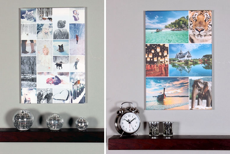 £10.95 instead of £64.99 (from Your Perfect Canvas) for an A1 collage canvas - choose your favourite photos and save 83%
