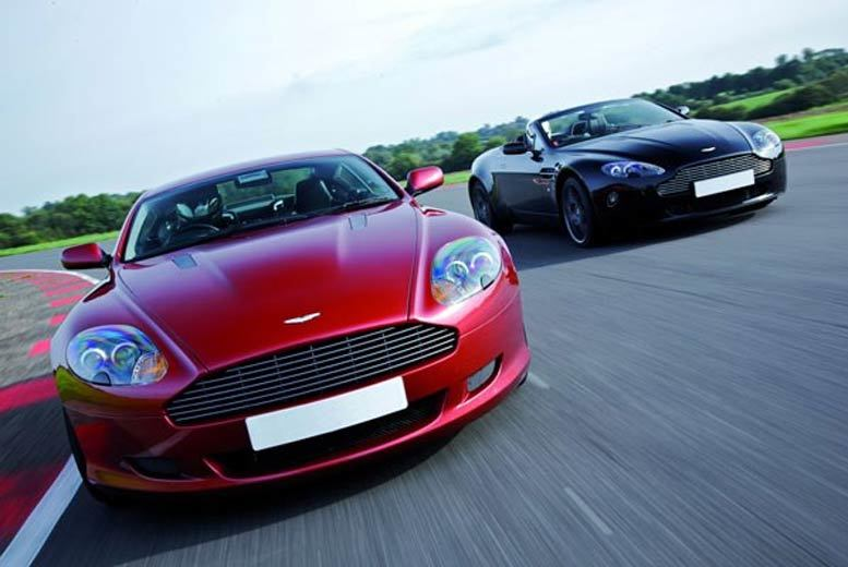 £59 for a Lamborghini and Aston Martin double supercar driving blast experience at a choice of over 15 locations from Buyagift!