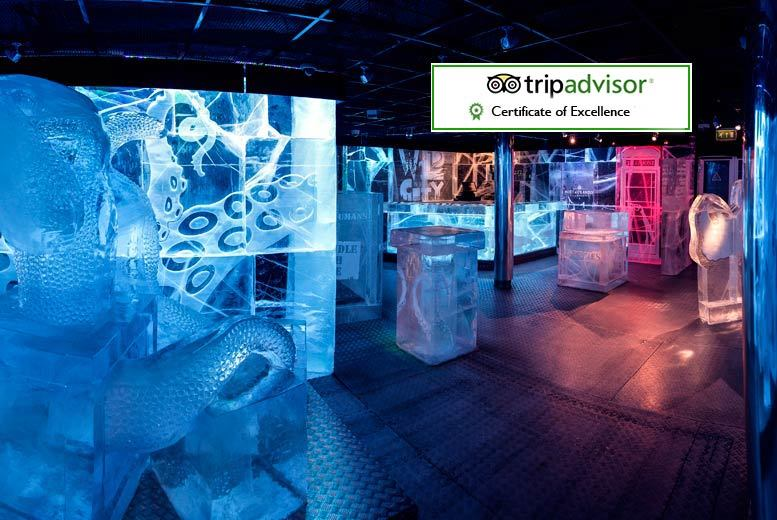 £19.50 instead of up to £27.70 for ICEBAR entry with an ice cocktail and choice of second cocktail in the warm bar at ICEBAR LONDON - save up to 30%
