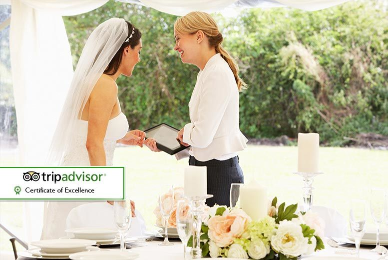 £2999 for a complete wedding package at the 4* Manchester Marriott Victoria & Albert Hotel, Manchester city centre