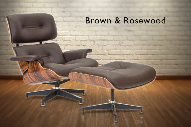 £399 instead of £749 for a leather Eames-style Lounge Chair & Ottoman - save 47%