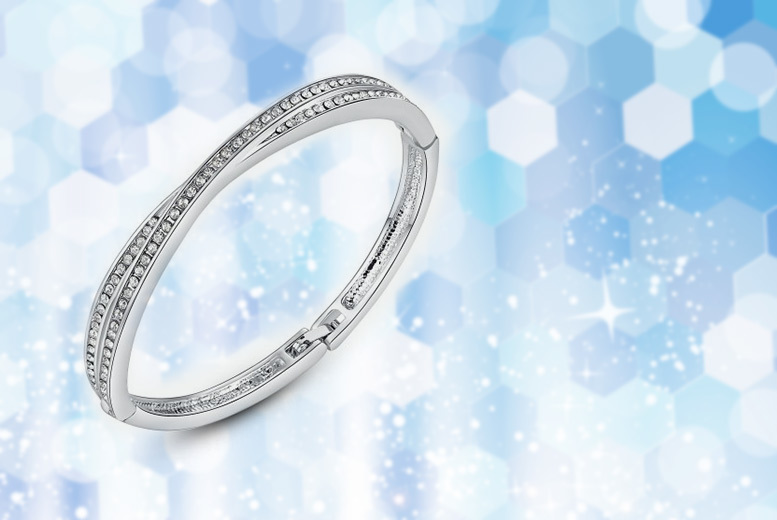 £8 instead of £69 (from Your Ideal Gift) for a cross bangle made with crystals from Swarovski® - save 88%