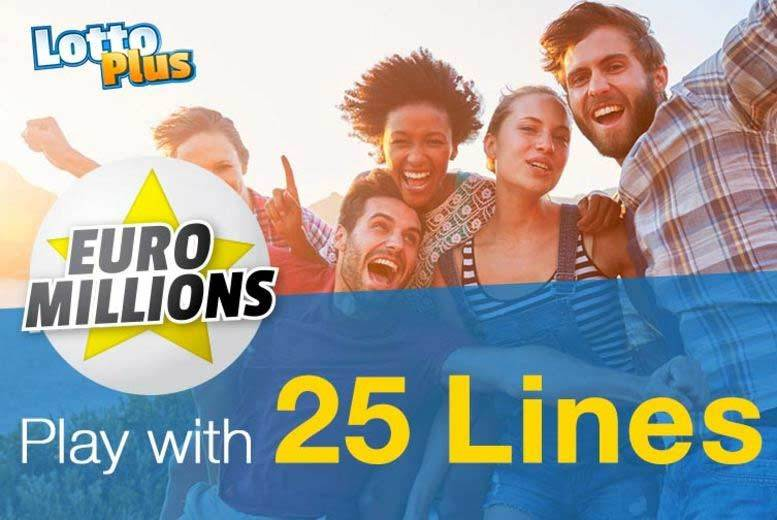 £1 instead of £3.12 (with LottoPlus) to play with 25 lines in one draw with one share in the EuroMillions Syndicate - save 68%