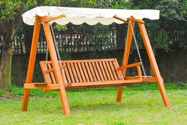 Garden Furniture Colours outsunny' 3 seater pinewood garden swing chair - 2 colours!