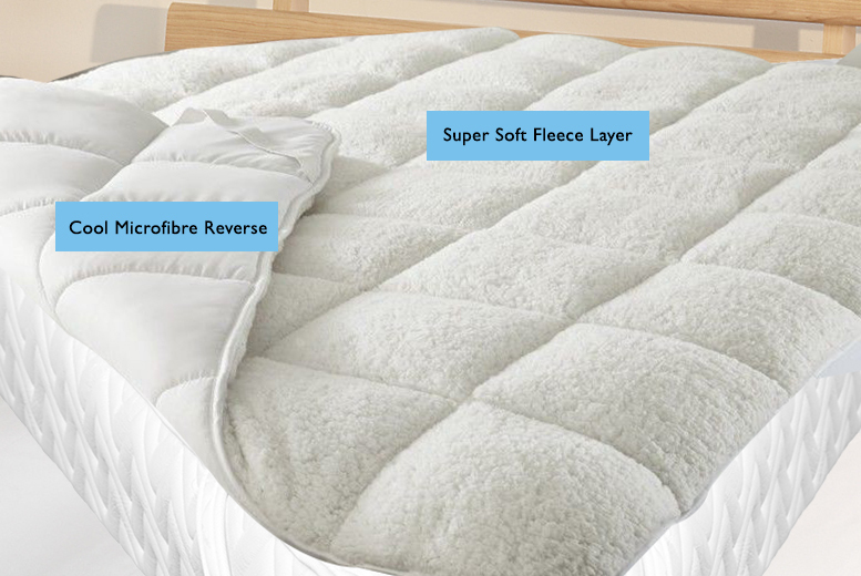 From £14.99 for a luxury all-seasons reversible mattress enhancer in double, king or super king size - save up to 63%