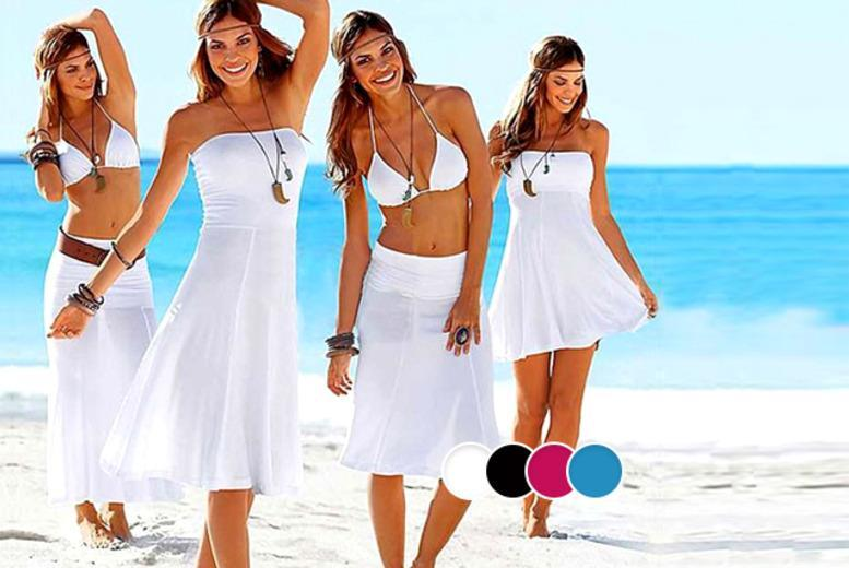 £7.99 instead of £29.99 (from Fizzy Peach) for a 2-in-1 strapless beach dress in a choice of four colours, £14 for two - save up to 73%