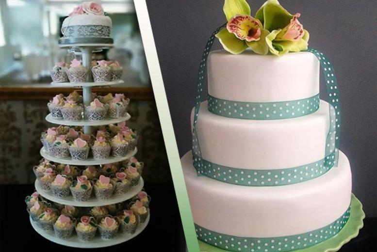 "£149 for 100 wedding cupcakes on a tiered stand, £169 for a 3-tier wedding cake, or £199 for 70 cupcakes and a 5"" top cake from Vanilla Nova, Southport - save up to 53%"