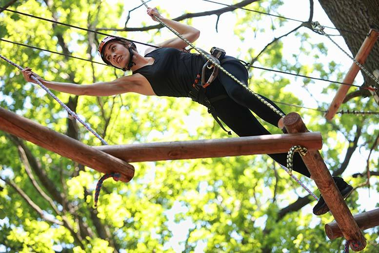 £29 for a 90-minute high ropes adventure at Ripley Castle, Harrogate with Into the Blue!