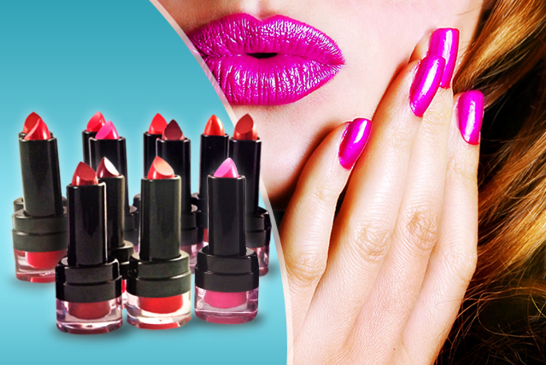 £14.99 instead of £49.99 (from Zuvo) for 12 London Girl Intense Wear Lipsticks in various colours – get kissable lips and save 70%