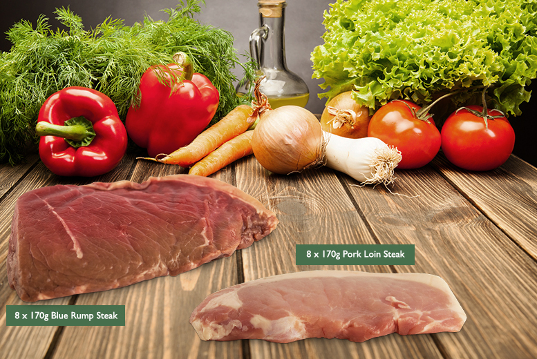 £39 instead of up to £85 for a premium 16-steak selection box and a £10 voucher to spend on your next order from Food Box Farm - save 54% + DELIVERY INCLUDED!