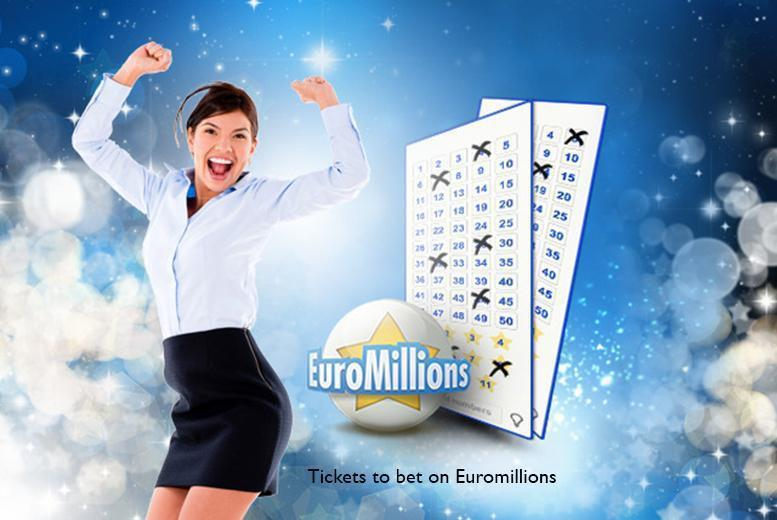 £5 (from PlayLottery.com) for 110 syndicate EuroMillions bet entries, £10 for 220, £15 for 330, £20 for 440 or £25 for 550 - save up to 58%