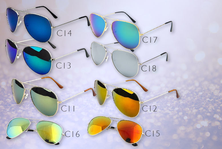 £5 instead of £39.98 (from Fakurma) for two pairs of Aviator sunglasses - save 87%