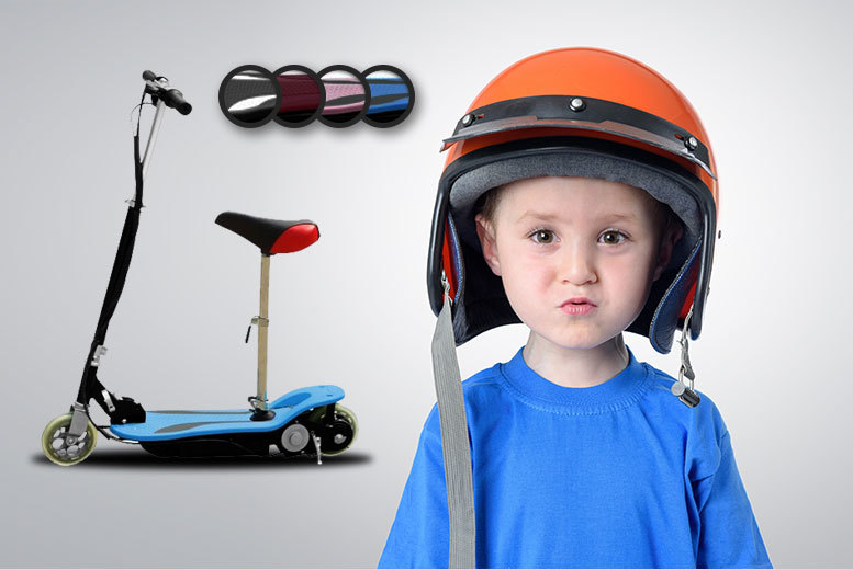 £49.99 instead of £89.99 (from SS Superstore) for a kids' 120w electric scooter, £59.99 to include an attachable seat - choose from six colours and save up to 44%