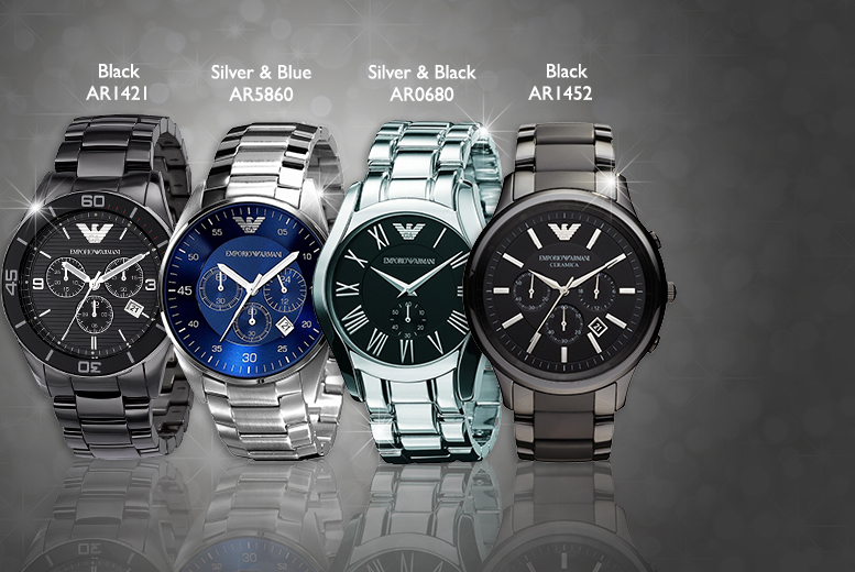£175 (from Gray Kingdom) for a men's Emporio Armani watch - choose from four designs and save up to 65%