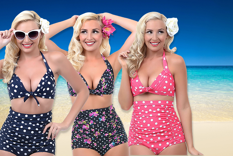 £9.99 instead of £24.99 (from Shine Accessories) for a vintage-style bikini in a choice of six designs - save 60%