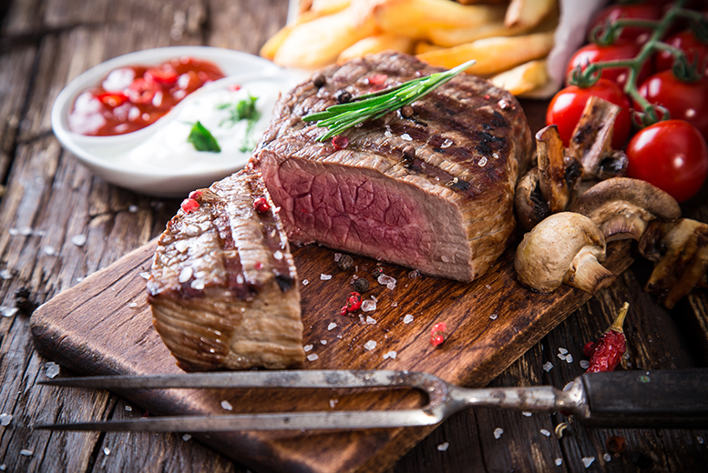 £19 instead of £38 for a sirloin steak meal for two people including a glass of house wine each at The Clipper, Dumbarton - save 50%