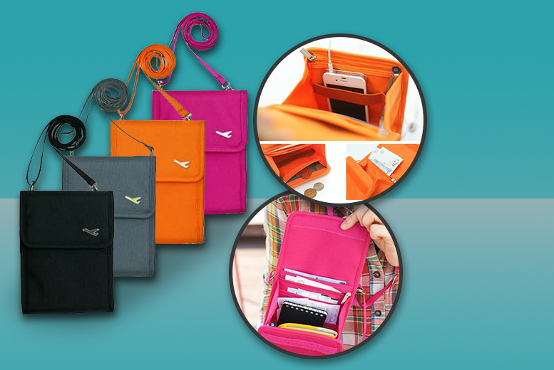 £4.99 instead of £24.99 (from London Exchainstore) for a travel document bag, or £7.99 for two - choose from four colours and save up to 80%