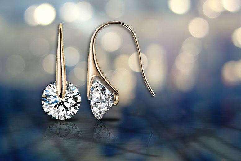 £8 instead of £49.99 (from Marcus Emporium) for a pair of eclipse drop earrings made with Swarovski Elements - save 84%