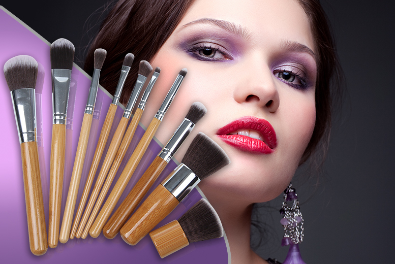 £7.99 instead of £59.99 (from SalonBoxed) for a 10-piece set of bamboo makeup brushes - save 87%