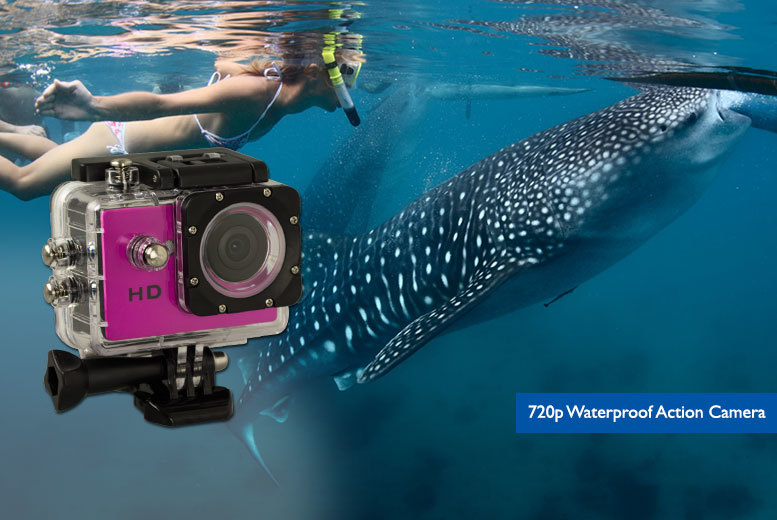 £29.99 instead of £69.99 for a HD 720p waterproof action camera, £39.99 for a HD 1080p camera - save up to 57%