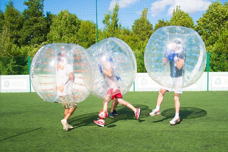 £119 for a bubble football game for up to 10 people, £149 for 14 at Zorbmo - choose from 3 locations!