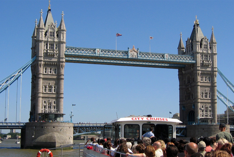 £3.25 for a child Thames circular sightseeing cruise ticket, £6.50 for an adult ticket with City Cruises, Tower Pier - save up to 50%