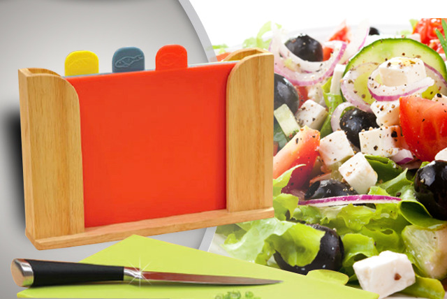 £15 instead of £24.95 (from Jean-Patrique) for a professional 4-piece colour-coded chopping board set with wooden storage - save 40%