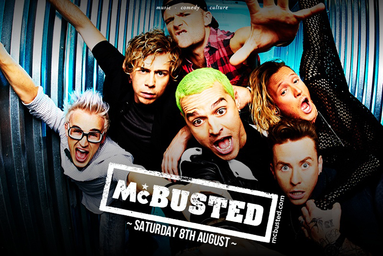 £99 for a VIP ticket package for two people to see McBusted live at Lytham Festival on 8th August 2015 - save 62%