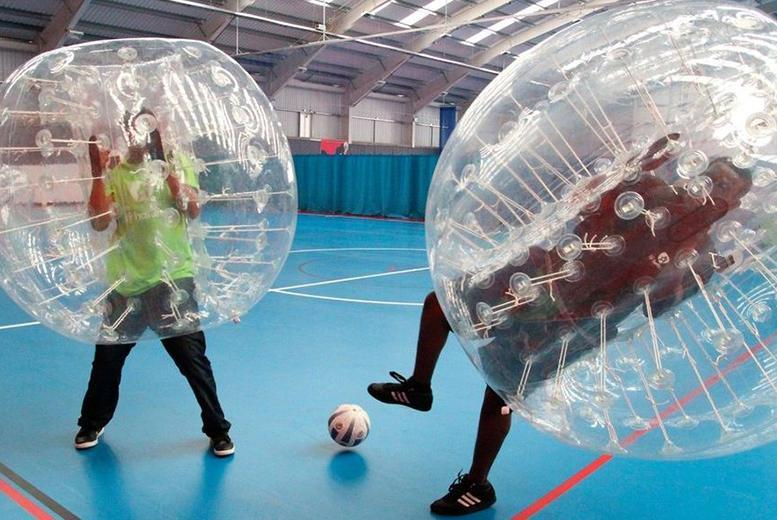 £249 for a one-hour zorb football experience for up to 15 people with Excel Bubble Football - save 38%