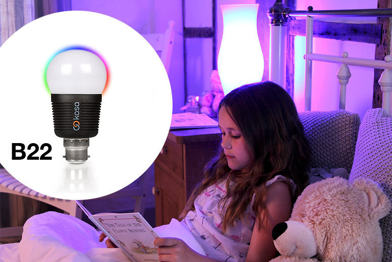 £17 instead of up to £26.99 for a smart LED light bulb from Deals Direct - choose from screw or bayonet options and save 37%