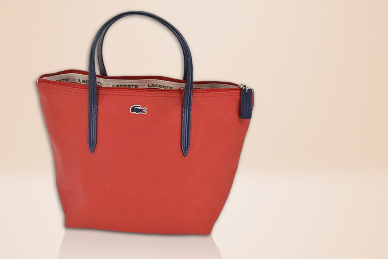 £25 instead of £70 for a ladies' formula red Lacoste tote bag - save 64%