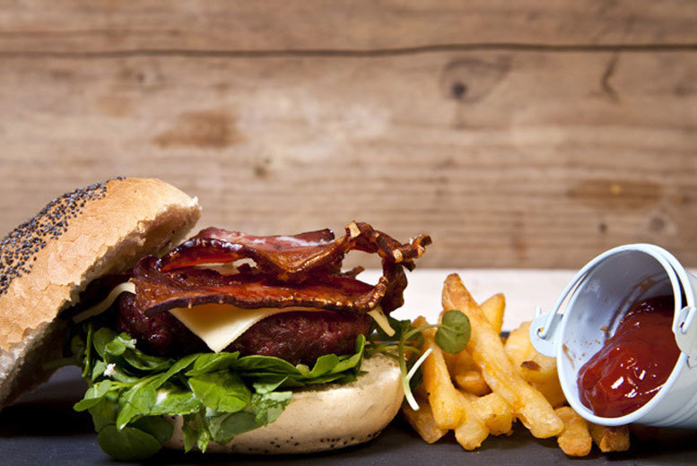 £9 instead of £18 for a gourmet burger or hot dog and chips for two people, or £17 for four people at The West End Hotel Restaurant, Edinburgh - save up to 50%
