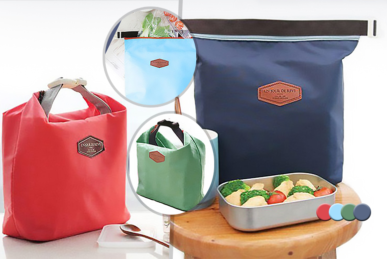 £3.99 instead of £14.99 (from Fizzy Peach) for a thermally-insulated tote-style lunch bag, or £6 for two bags - save up to 73%