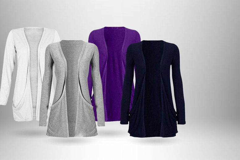 £6.99 instead of £19.99 (from Top Notch Fashion) for a ladies' boyfriend cardigan, £9.99 for two - choose from 14 colours and save up to 65%