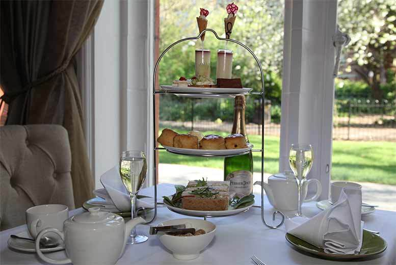 £39 for an afternoon tea for two with a glass of champagne each on a weekday, £49 with a bottle of champagne or £59 with bottle on a weekend - save up to 44%
