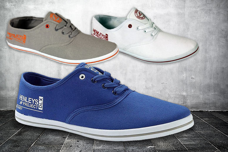 £9.99 instead of £49.99 (from The Fashion City) for a pair of men's Henleys lace up canvas shoes - choose from six colours and save 80%
