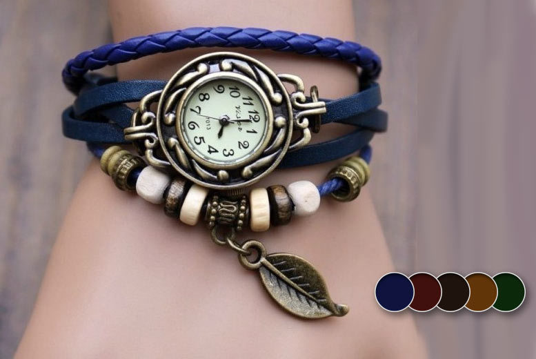 £6 instead of £32 (from Marcus Emporium) for a vintage-style beaded wraparound watch - save 81%