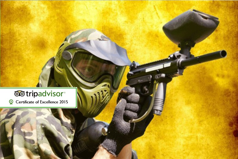 £5 for a half-day indoor paintballing experience for up to 5 people inc. 100 paintballs each, £9 for up to 10 people with Asylum Paintball, Stockport - save up to 94%