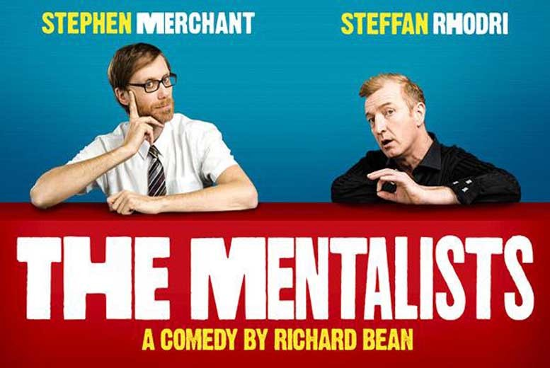 £39.50 instead of £57.25 for a band A ticket to see The Mentalists starring Stephen Merchant and Steffan Rhodri at Wyndham's Theatre - save 31%