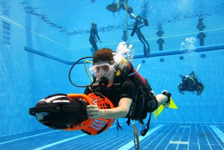 £25 instead of £50 for a two-hour James Bond scuba diving experience for two people including DPV underwater scooters at Divemaster Scuba, Nottingham - save 50%