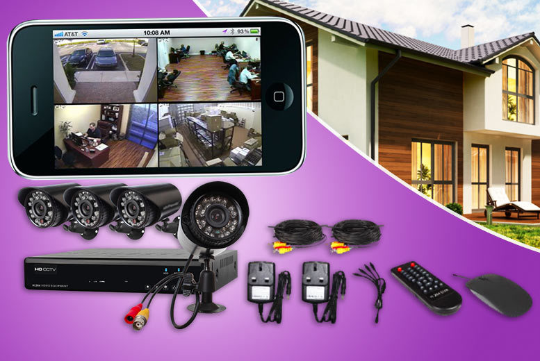 £119 instead of £289.01 (from Rose River) for a DVR 600TVL home CCTV surveillance system with four weatherproof cameras, from £129 to add a hard drive - save up to 60%
